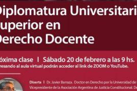 Diplomatura Universitaria Docente Se retoma el dictado de clases el sábado 20  de febrero